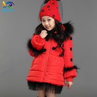 Cheap Children Clothing down cotton-padded coat girl winte thick warm jacket wadded coat kids casual dot princess outerwear parkas