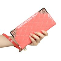 Wholesale New Patent Leather Long Wallet Aliexpress Hot Style Luxury Women Clutch Designer Money Coin Wallets Carder Holder Purse