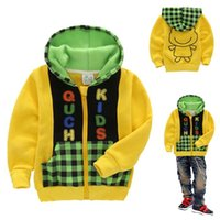 Wholesale Thick paragraph cartoon unisex kids hoodie sweatshirts boys girls zipper up jacket spring autumn toddler baby outerwear coa