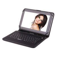EEUU Stock! IRULU 9 pulgadas de Tablet PC Quadcore Google Android4.4 Allwinner A33 de la tableta 8GB capacitivo Tablets Bluetooth con la caja del teclado de 9 pulgadas