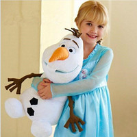 Wholesale Olaf Frozen Stuffed Plus Animals Snowman Movie Christmas Present Princess Doll Elegant Cotton Toys In Stock Ready To Ship Birthday Gift