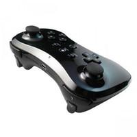 For Wii analog gamepad - New Black Classic Dual Analog Wireless Bluetooth Remote U Pro Game Controller Gamepad for Nintendo Wii U