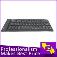 Wholesale-82keys plegable flexible impermeable de silicona suave teclado Bluetooth inalámbrico 2.4G para la PC de la tableta