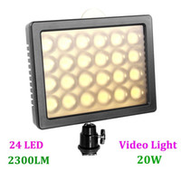 Wholesale WANSEN W24 LED Video Light Lamp W LM Dimmable Lighting for Canon Nikon Pentax DSLR Camera Video Camcorder Drop Shipping