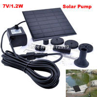 Wholesale Solar Power Fountain Pool Pump Garden Plants Watering Submersible Pumps Outdoor For Water Cycle Pond Rockery