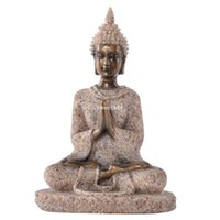 buddha statues - small cheap Thailand fenghui buddha statue for the garden home office decoration resin sandstone crafts cm F12138