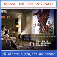 electric projection screen - inch projection screen HD screen home theater projector screen HD projector screen electric curtain Wireless Remote
