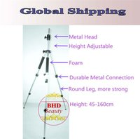 Wholesale COSMETOLOGY Training Doll Head Mannequin Manikin Canvas Block Head Stand TRIPOD