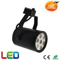 Wholesale Dimmable LED Track Light COB W W W LED Tracking Light LED Track Spot Light Warranty Years Epistar Chip CE RoHS