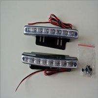 Wholesale 2013 hot sale New Car Truck Van Daytime Running Light Head Lamp White LED DRL Daylight Kit Hot A1757M