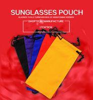 Wholesale eyeglasses pouch Glasses soft pouch PC LOW PRICE soft sunglasses bag Mixed colors availabl