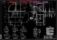 Wholesale M7 type NO15D coal centrifugal fan Drawings Full Machining drawings CAD