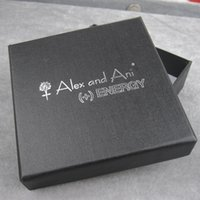 Wholesale New Black Square Jewelry Gift Boxes Cardboard Boxes With Logo Printed AAB090