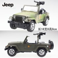 antique toy world - high quality huayi Jeep Wrangler Pull Back Acousto optic Toys Classic Alloy Antique Car Model of world war
