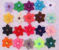 Cheap 3.5 inches Flowers Hair Clips Best Grosgrain Ribbon Bows Barrettes