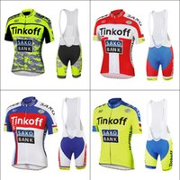 Wholesale 2015 Cycling Jersey Set Tinkoff Saxo Team Tour De France Bike Bicycle Clothing Ropa Ciclismo Peter Sagan Cycling Wear Padded Bib Short