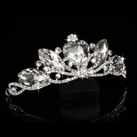 crowns and tiaras - Rhinestone Princess Bride Crown Quinceanera Tiaras And Crowns Bridal Head Accessories Big Heart Crystal Tiaras Tiara Noiva