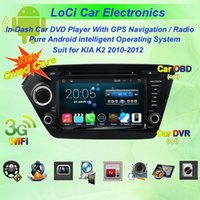 Wholesale Car dvd Multimedia radio android player for KIA K2 autoradio CD gps navigation Pure android Quad Core