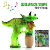 Wholesale New Kids Bubble Machine Dinosaur Toys Bubble Gun Dinosaur with Music LED Ligth Water Bubble for Chiren Gift