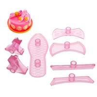 Wholesale Set High Heeled Shoes Shape Plastic Cookie Cutter Embossing Mold Fondant Pastry Press Cake Decorating Confectionery Tools