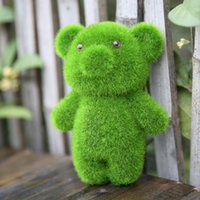 Wholesale GrassLand artificial grass Cute little animal lovely bear display Decoration Relieve eye fatigue Fake grass furnishing articles DT001