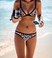Wholesale Sexy Print Bikinis Push Up Swimwear Flower Pattrern Cheap Women Bikinis Brazilian S M L XL W3030