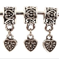 Wholesale 10sets Fashion dangle Charms Beads Fits DIY European Necklaces Pendants F2635