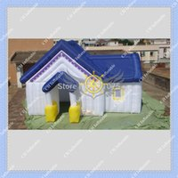 Wholesale Inflatable White House Tent m by m Large Space Cute Design DHL Blower Included