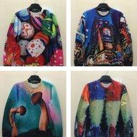 achat en gros de chandails pâques-FG1509 Original Tide marque New Occident 3D T-Shirt Oeufs de Pâques Mushrooms Hommes Femmes Le même paragraphe Couple Long-Sleeved Coat Sweater