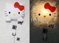 Wholesale Retail Baby Girls Bedroom Decorations Lamp Cartoon Hello Kitty Wall Lamp Children s Cartoon Night Light