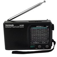 achat en gros de tecsun radio-TECSUN R-909 FM / AM / SW récepteur mondial Band Portable Radio DX / LOCAL Sensibilité Y4140A