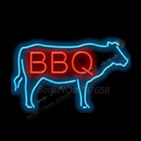 barbeque lights - BBQ with Cow Barbeque Shop Neon Light Sign Display BAR Pub Club signage Nikke Atarii neon Cap GlassTube Handicraft