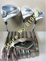 Wholesale Complete Left Handed golf clubs R B Z driver fairway wood R B Z golf irons pw aw sw set free headcover