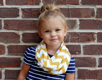 baby scarf infinity - 16 Colors Chevron Wave Print Infinity Scarf New Fashion Girls Kids Stripe Loop Ring Scarves Baby Accessories