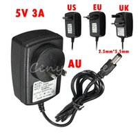 Wholesale Lowest UK US AU EU Plug Universal AC Adapter Replacement for DC V A Charger Power Supply for LED strip Switches Audio Video