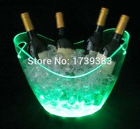 beer pails - Color changeable led ice pail luminous ice bucket large ingot champagne beer bucket Controllable Colors LED light up Ice Bucket