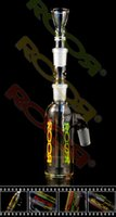 Wholesale 2014 newest Hand Blown roor Glass Bong Glass Water Pipe for supporting bottles mini perc percolator Smoking Pipe joint size mm