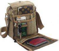 Wholesale Canvas Briefcase Bags Men - Charm canvas bags 2016 men vintage small shoulder bag canvas men cross body messenger bag brand design casual bag purse briefcase bolso w304
