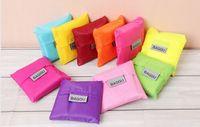 Wholesale 10pcs Baggu tote bags candy colors reusable shopping bag Portable folding pouch lunch bag purse handbag