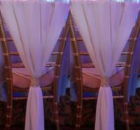 Cheap Gorgeous 50cm*150cm Chiffon Wedding Chair Sash Beach Wedding Chair Cover DIY Party Decorations