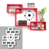 Wholesale 2015 Delicate Modern House Keeping Digital Wall Clock Room Interior Decoration Clock High quality DIY Adhesive Home Decoration