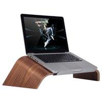 Wholesale EMS free SAMDI Oblique Wooden Laptop Stand Universal Gradient Anti skid Wood Holder Bracket Dock for MacBook Air Pro Notebook order lt no tr