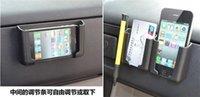 Nuevo llegó Negro amarillento GPS del teléfono móvil Tarjeta de visita soporte del coche stents titular soporte de sujeción ajustable Accesorios de automóviles del teléfono celular 50