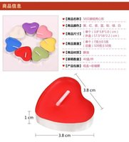 Wholesale Heart shaped smokeless candles creative wedding candles Romantic confidence aluminum shell candle