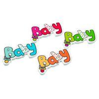 achat en gros de boutons de scrapbooking bébé-Scrapbooking Couture Accessoires M63653 de 50pcs 2 trous mixtes Bébé Nichon Boutons en bois Fit Couture Scrapbook