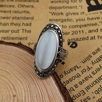 Cheap New fashion wedding jewelry rings IL86 Party Jewelry Palace vintage rings for women Fashion White Opal Gem Lady's Rings