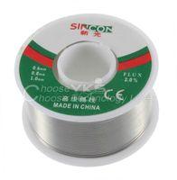 al por mayor fundente de resina-63/37 estaño 0.8mm base de la resina de estaño / plomo de 0,8 mm de Rosin Flux rollo de soldadura carrete de alambre a estrenar