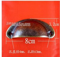 Cheap BL086 antique plate semicircular iron handle furniture Chinese real drawer handle semicircular shell handle