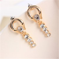bars gild - Big style exquisite gilded bars full diamond earrings diamond pendant earrings mixed batch
