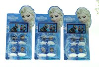 Wholesale Christmas stamper set Cartoon Frozen Children s Toy Great Frozen Anna Character Princess Stamp Elsa factory price by DHL